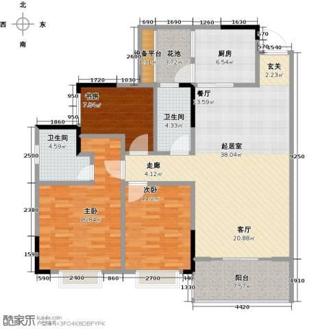 兴茂盛世华都3室0厅2卫1厨112.00㎡户型图