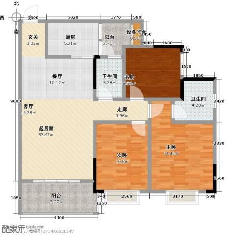 兴茂盛世华都3室0厅2卫1厨102.00㎡户型图