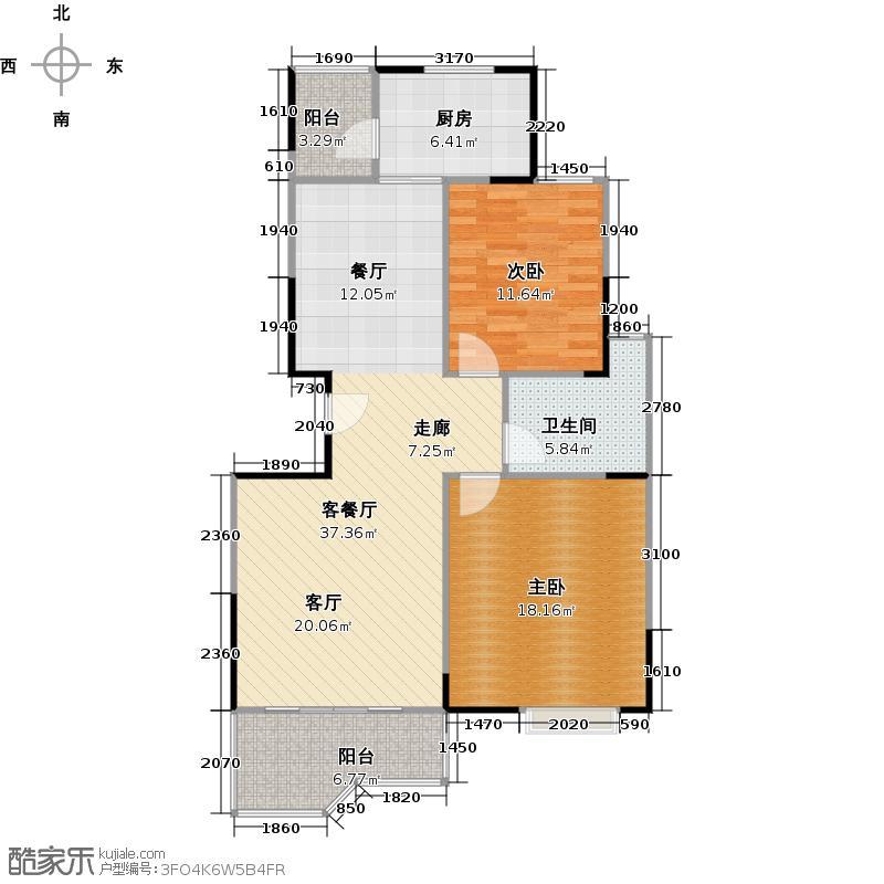 新城御景--20套户型2室1厅1卫1厨