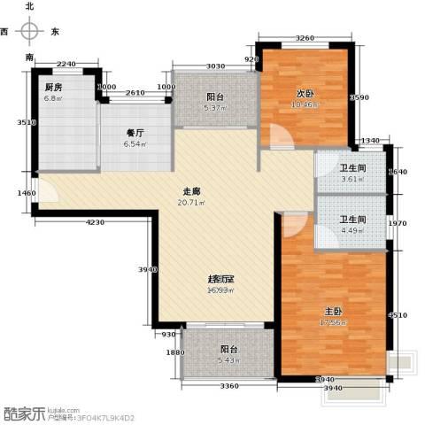 盘古天地2室0厅2卫1厨105.00㎡户型图