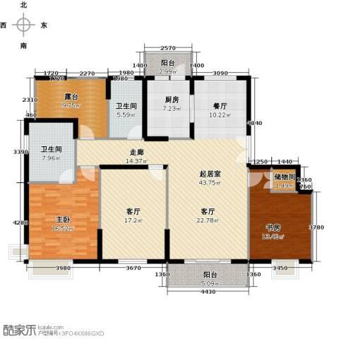 骏丰嘉骊花园2室1厅2卫1厨141.00㎡户型图