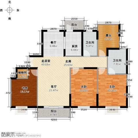 骏丰嘉骊花园3室0厅2卫1厨140.00㎡户型图