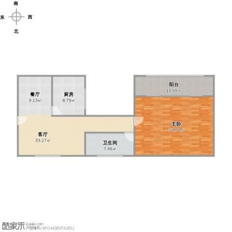 新里城和合苑1室1厅1卫1厨123.00㎡户型图