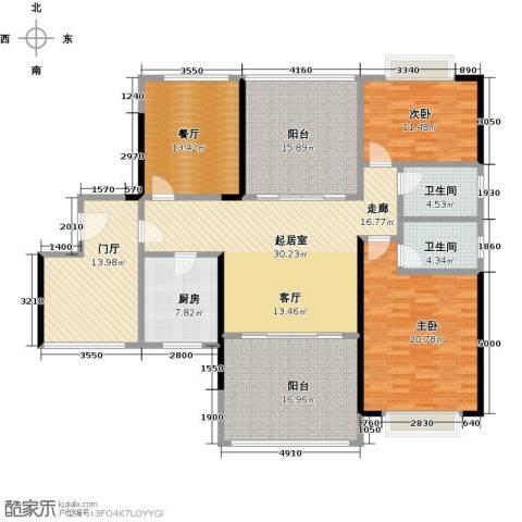 龙光城2室1厅2卫1厨155.00㎡户型图