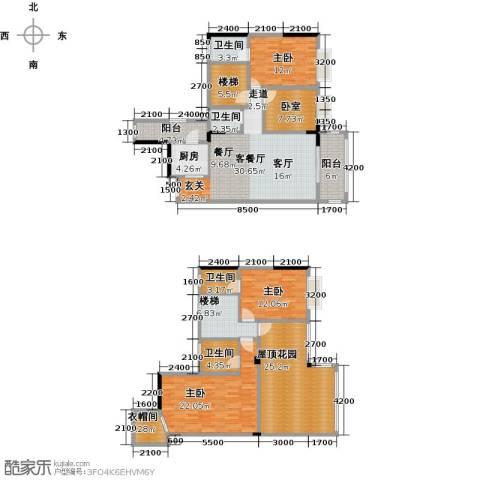 金田花园3室1厅4卫1厨217.00㎡户型图