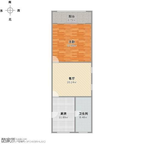 虹南小区1室1厅1卫1厨93.00㎡户型图