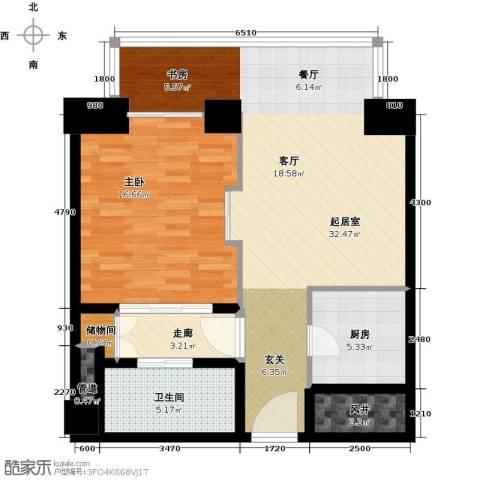 德胜君玺1室0厅1卫1厨92.00㎡户型图