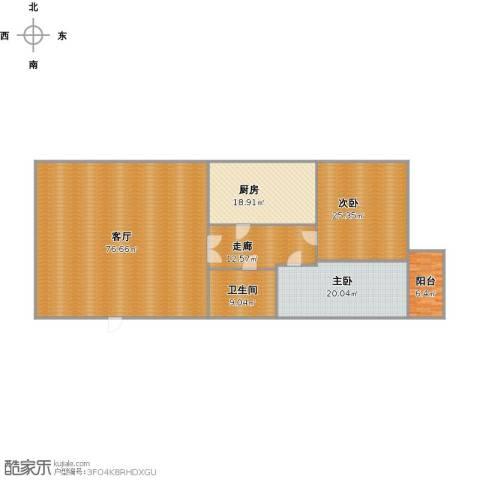 德裕家园2室1厅1卫1厨221.00㎡户型图