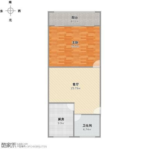章家巷小区1室1厅1卫1厨101.00㎡户型图