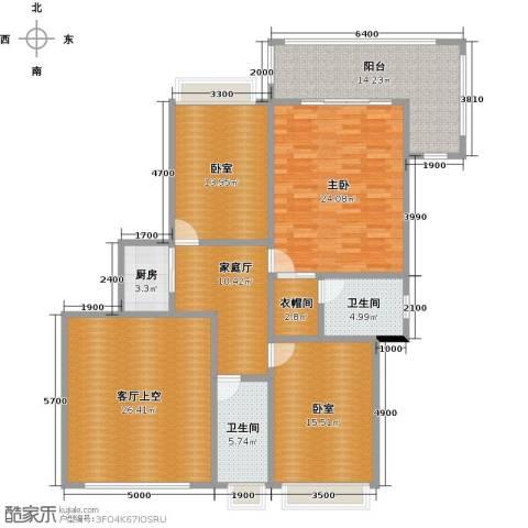御花苑天�湾1室0厅2卫1厨170.00㎡户型图