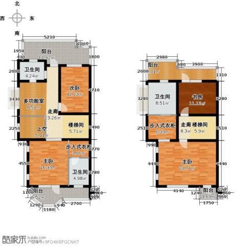 华瀚净月公馆4室0厅3卫0厨260.00㎡户型图