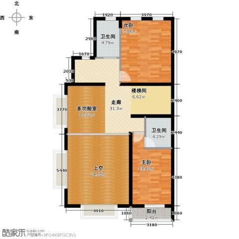 华瀚净月公馆2室0厅2卫0厨138.00㎡户型图