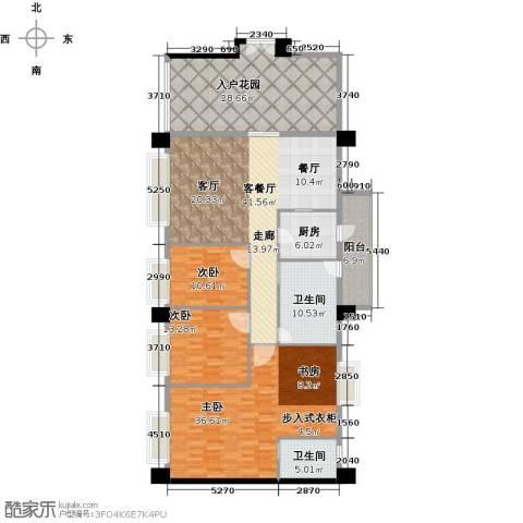 虎门地标3室1厅2卫1厨218.00㎡户型图