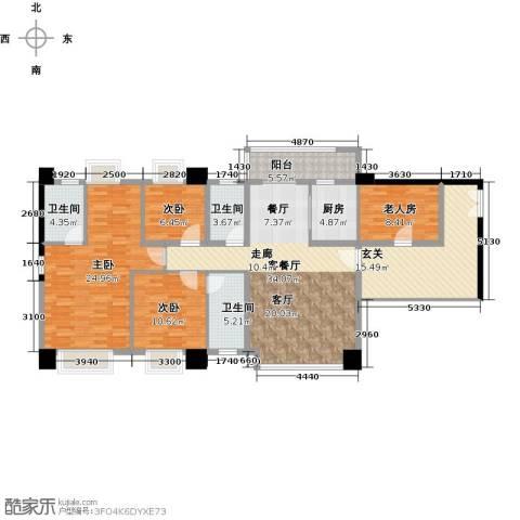 虎门地标4室1厅3卫1厨175.00㎡户型图