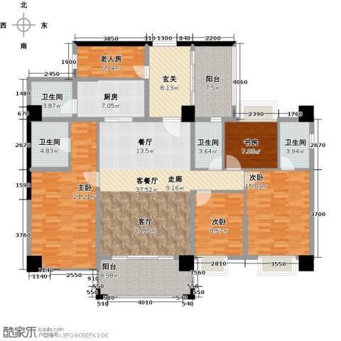 虎门地标5室1厅4卫1厨205.00㎡户型图