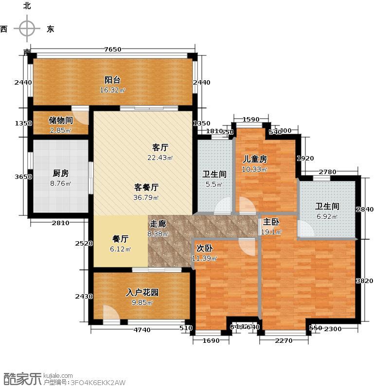 尚东阳光03户型3室1厅2卫1厨