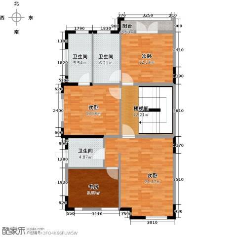 团泊湖光耀城4室0厅3卫0厨122.00㎡户型图