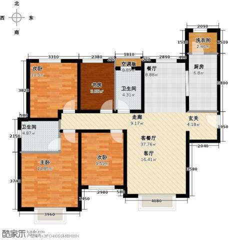 天津津南新城4室1厅2卫1厨140.00㎡户型图