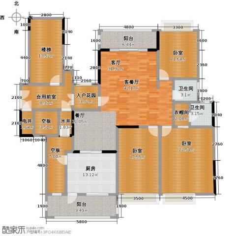 御花苑天�湾1厅2卫1厨241.00㎡户型图