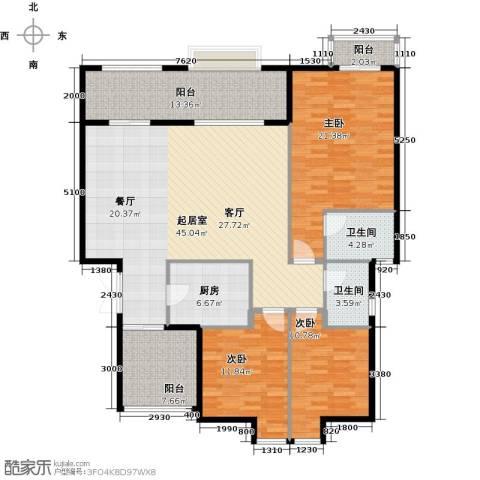 万山国际3室0厅2卫1厨135.00㎡户型图