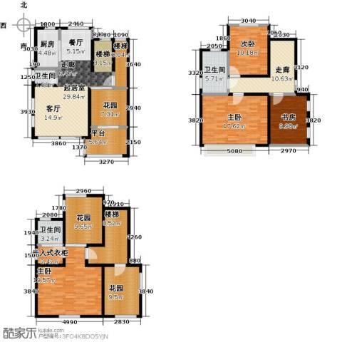 海上国际花园4室0厅3卫1厨186.00㎡户型图