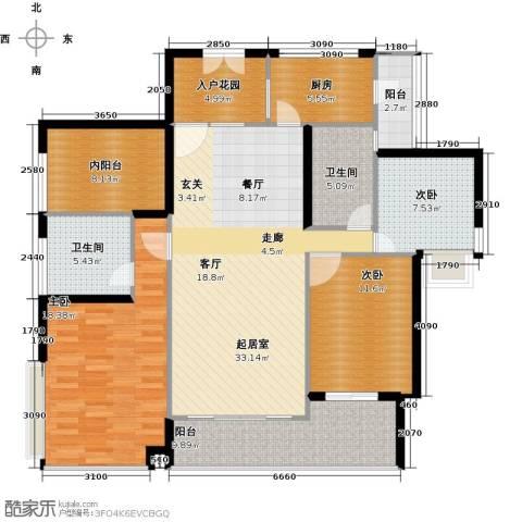 莲湖四季豪园3室0厅2卫1厨156.00㎡户型图