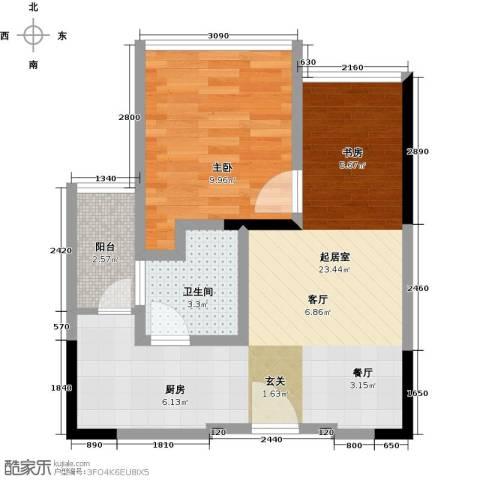 中央财津1室0厅1卫0厨56.00㎡户型图