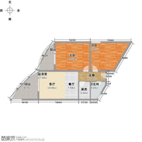 晋唐海湾2室0厅1卫1厨110.00㎡户型图