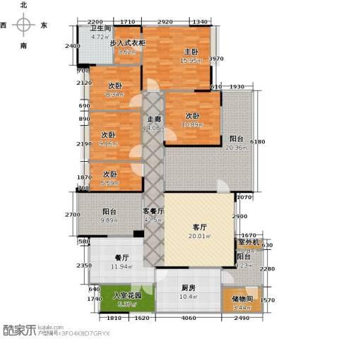 协信阿卡迪亚君临天下5室1厅1卫1厨210.00㎡户型图