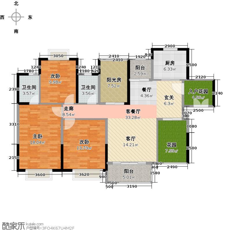 世纪城幸福公馆幸福宝格丽户型3室1厅2卫1厨