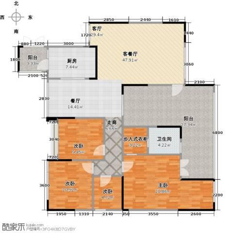 协信阿卡迪亚君临天下4室1厅1卫1厨186.00㎡户型图