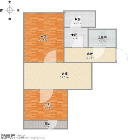营市东街单位宿舍2室2厅1卫1厨163.00㎡户型图