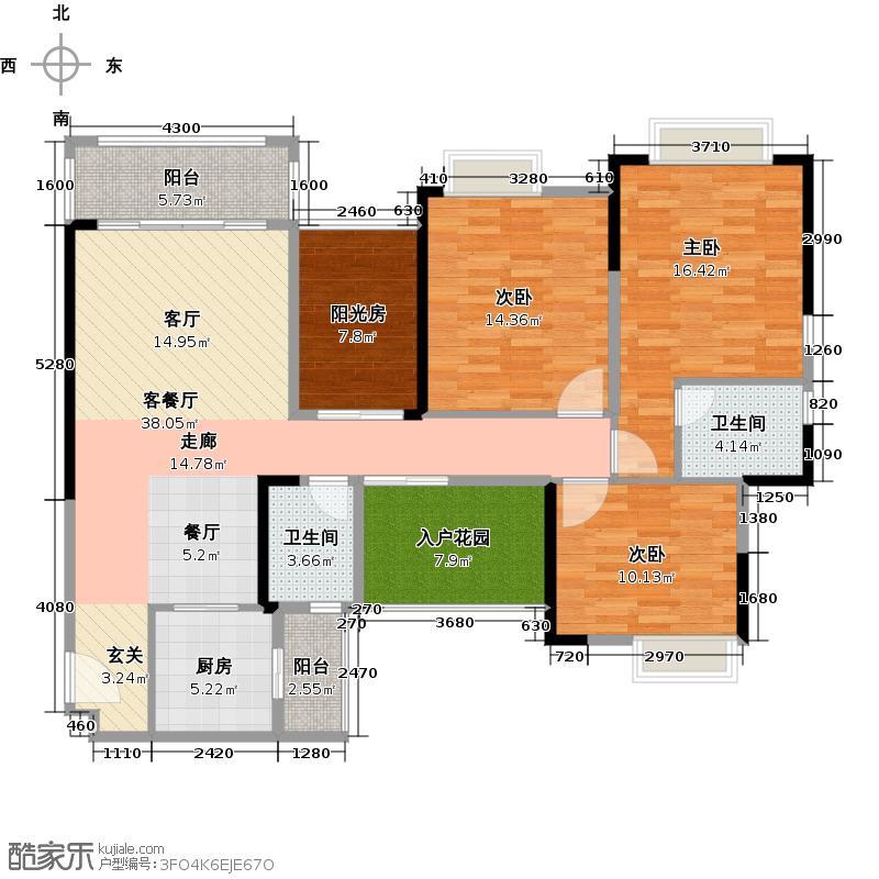 世纪城幸福公馆幸福蒂凡尼户型3室1厅2卫1厨