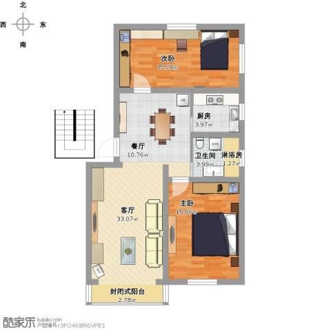 绿梅公寓2室1厅1卫1厨114.00㎡户型图