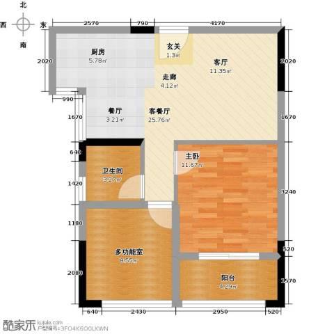 伟业迎春乐家1室1厅1卫0厨61.00㎡户型图