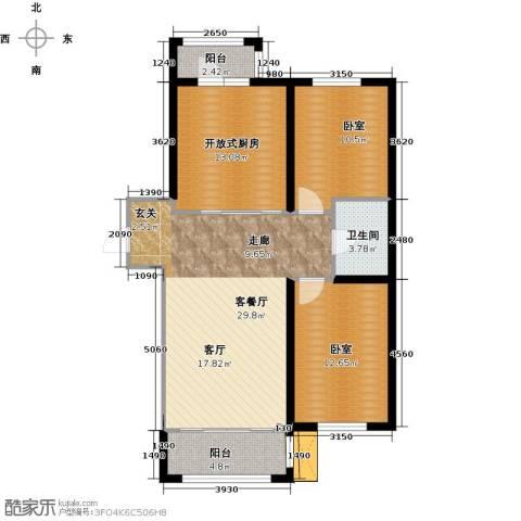 巴黎第五区1厅1卫0厨108.00㎡户型图
