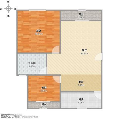 大唐盛世花园2室1厅1卫1厨111.00㎡户型图