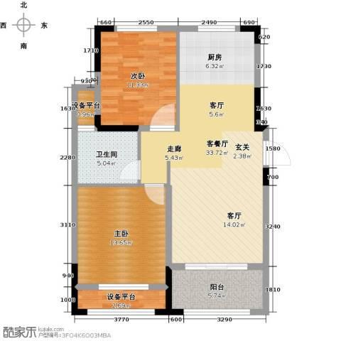 伟业迎春乐家2室1厅1卫0厨83.11㎡户型图