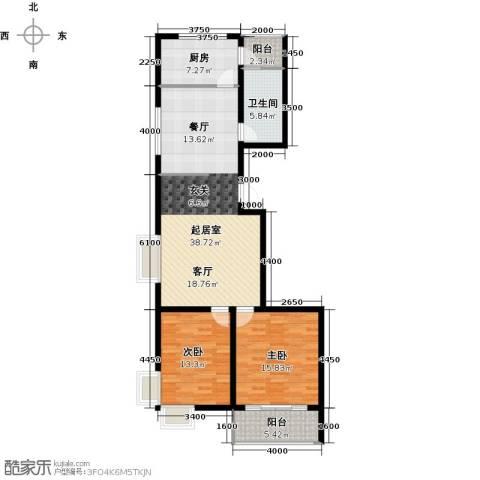 茂陵依山居2室0厅1卫1厨94.00㎡户型图