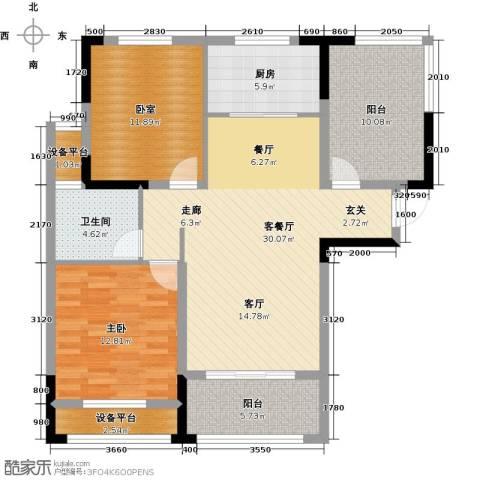 伟业迎春乐家1室1厅1卫1厨97.00㎡户型图