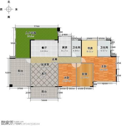 广州星河・山海湾2室0厅2卫1厨174.00㎡户型图