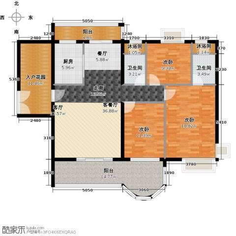 亿泉尚园3室1厅2卫1厨139.00㎡户型图
