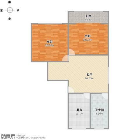 联勤小区2室1厅1卫1厨124.00㎡户型图