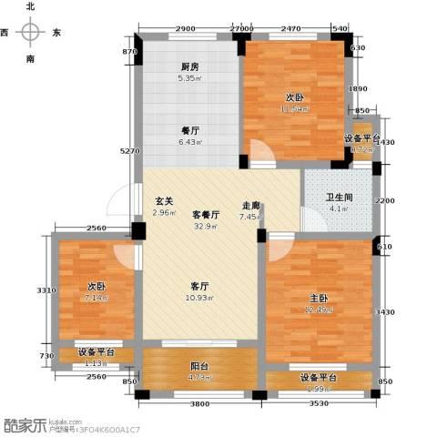 伟业迎春乐家3室1厅1卫0厨89.00㎡户型图
