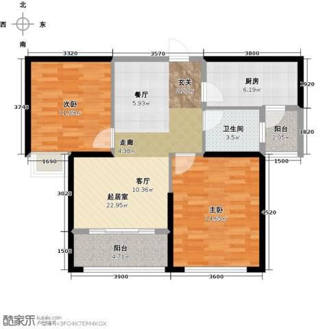 金色港湾2室0厅1卫1厨92.00㎡户型图