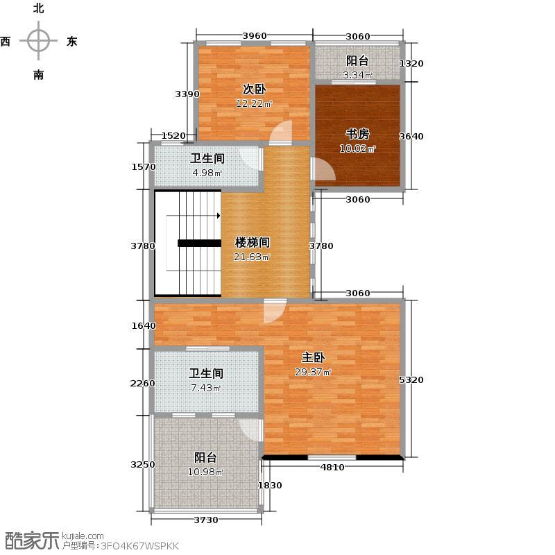 武汉锦绣香江A01二层户型3室2卫