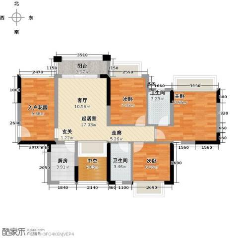 东海岸花园3室0厅2卫1厨100.00㎡户型图