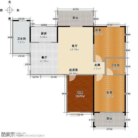 美生中央广场1室0厅2卫1厨121.00㎡户型图