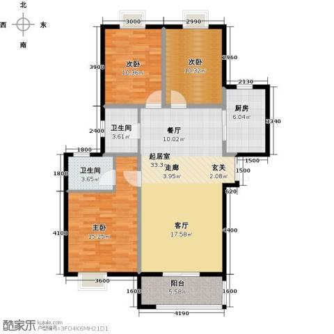 中登・悦园3室0厅2卫1厨125.00㎡户型图