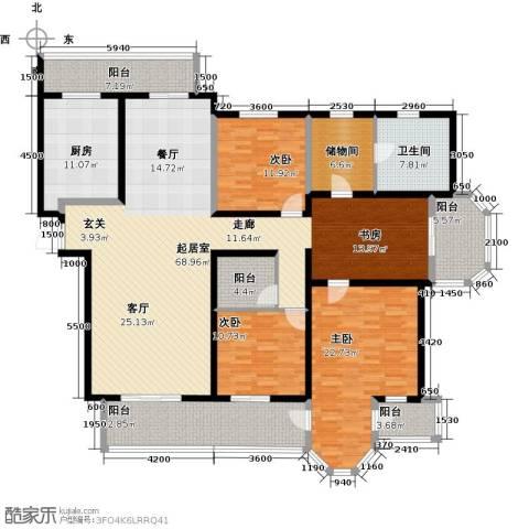 中海御湖公馆二期3室0厅1卫1厨200.00㎡户型图